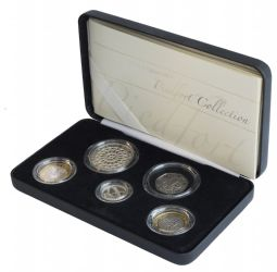 2007 Piedfort Coin Collection 5 Coin Collection